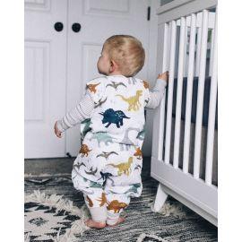 Little Unicorn - Muslin Sleep Romper - Dino Friends