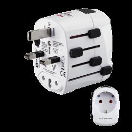 Hama World Travel Pro world travel adapter plug, 3 pins