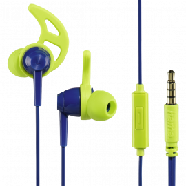 Hama Action In-Ear Stereo Headphones blue and green