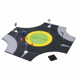 1:43 Streetfire Roundabout, incl. 1 toy car (34 pcs)