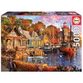 Educa Puzzles - 5000 The Harbour Evening - Suitable for 3 years and above