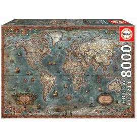 Educa Puzzles - 8000 Historical World Map - Suitable for 3 years and above
