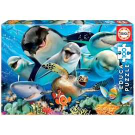 Educa Puzzles - 100 Underwater Selfie - Suitable for 3 years and above