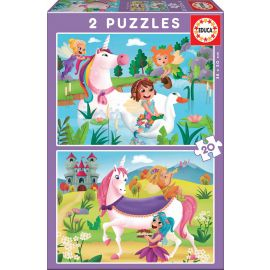 Educa Puzzles - 2X20 Unicorns And Fairies - Suitable for 3 years and above
