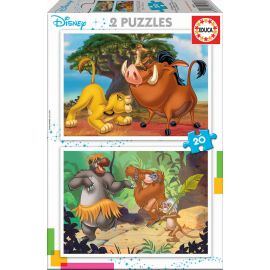 Educa Puzzles - 2X20 Disney Animals - Suitable for 3 years and above
