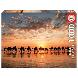 Educa Puzzles - 1000 Sunset In Beach Cable - Suitable for 3 years and above