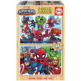 Educa Puzzles - 2X25 Marvel Super Heroe Adventures - Suitable for 3 years and above