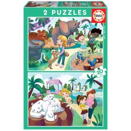 Educa Puzzles - 2X20 In The Zoo - Suitable for 3 years and above
