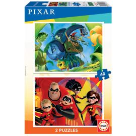 Educa Puzzles - 2X48 Pixar - Suitable for 3 years and above