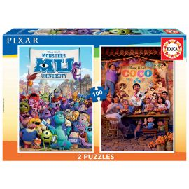 Educa Puzzles - 2X100 Pixar - Suitable for 3 years and above