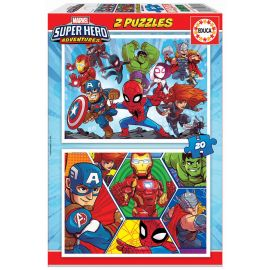 Educa Puzzles - 2X20 Marvel Super Heroe Adventures - Suitable for 3 years and above