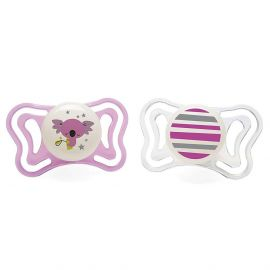 Chicco Physioforma Light Silicone Pacifier (6-16m) 2pc Pink