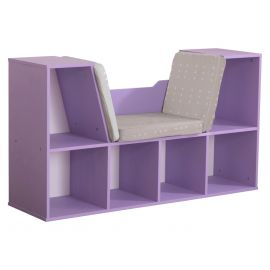 Kidkraft Bookcase with Reading Nook - Lavender