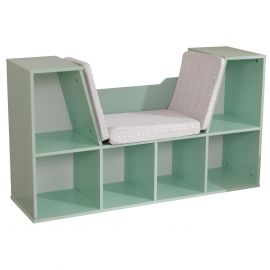 Kidkraft Bookcase with Reading Nook - Mint