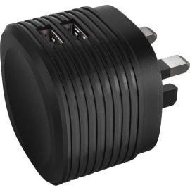 Hama Dual USB Charger 2.4A - Black | HA73014150