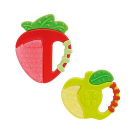 Chicco Fresh Relax Strawberry & Apple Teether 4m+ ,Assorted