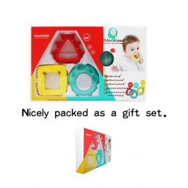 Mombella Educationl Geometry Animal Teethers (3 Pieces) - Multicolor