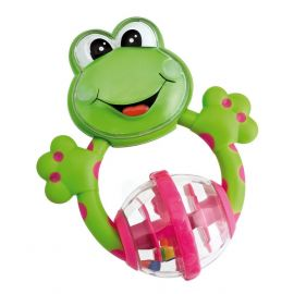 Chicco Fun Teething Rattles Frog- Green