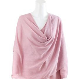 Bebitza - Antibacterial Breastfeeding Blanket - Pink Textured Knit