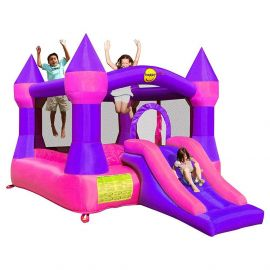 HappyHop - Happy Hop 9017P Castillo Hinchable Bouncer con slide