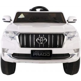 Kids Rechargeable Ride on land Cruiser Prado Jeep - White