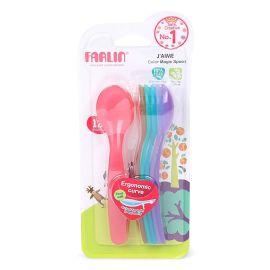 Farlin J'aime Colour Magic Spoon - 12+ Month (Pack of 7)
