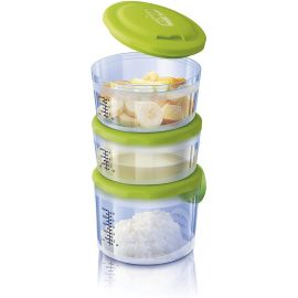 Chicco Food Containers System 6m+ ,Greeen