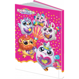 Rainbocorns - Arabic Hardcover Notebook 100 Sheets - Pink