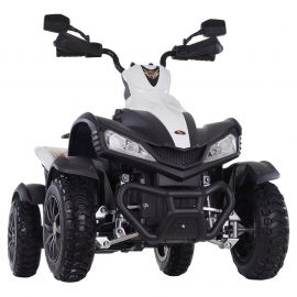 Ride-On ATV Quad Bike with Rubber Tyres - White