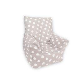 Delsit Bean Chair - Grey W. Stars