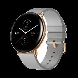 Zepp Round Moon Grey Leather Strap Smart Watch