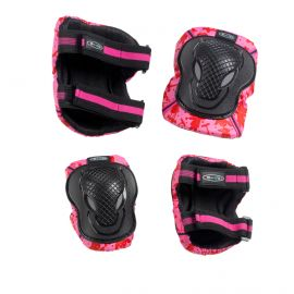 Micro Knee and Elbow Pads Pink Print: L