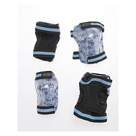 Micro Knee and Elbow Pads Blue Print: L
