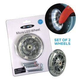 Micro Maxi 2 x LED Wheel  120 mm Set