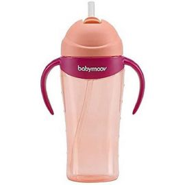 Babymoov Babymoov - Anti Spill Straw Cup, 300ml, 8m+, Peach, Piece of 1