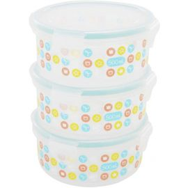 Badabulle Food Storage Containers, 3 X 500ml, Piece of 1