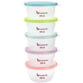 Badabulle Maxi Portions Storage Bowls, Pack of 5