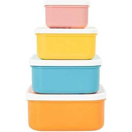Badabulle Snack Box Food Containers X 4 (110,250,400,610ml)