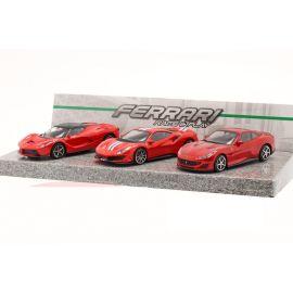 3-Car Set Ferrari Race & Play red 1:43 Bburago