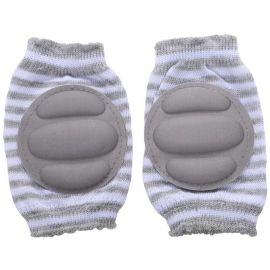 B-Safe Knee Pads Grey Protective Pads (Stripes)