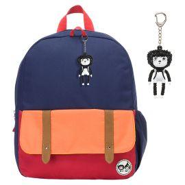 ZIP & ZOE - Junior Kid's Backpack - Navy Colour Block