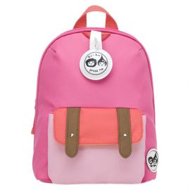ZIP & ZOE - Mini Backpack + Safety Harness - Hot Pink Block