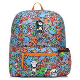 ZIP & ZOE - Midi Kid's Backpack - Robot Blue
