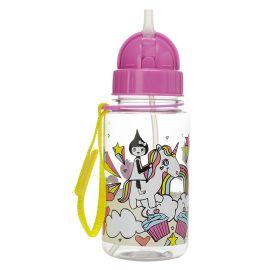 ZIP & ZOE - Drinking Bottle with Straw - Unicorn