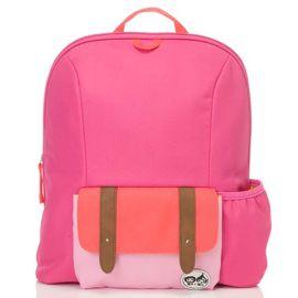 ZIP & ZOE - Midi Kid's Backpack - Hot Pink Colour Block