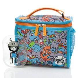 Zip & Zoe - Zipped Lunch Bag & Ice Pack - Robot Blue