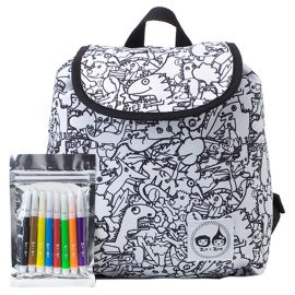 Zip & Zoe - Colour And Wash Backpack - Dino