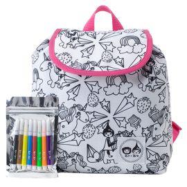 Zip & Zoe - Colour And Wash Backpack - Unicorn