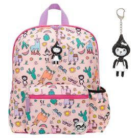 Zip & Zoe - Midi Llama Kid's Backpack 3-7Y - Pink