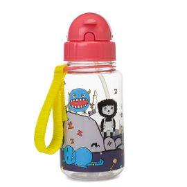 Zip & Zoe - 350ml Drinking Bottle W/ Straw - Monster